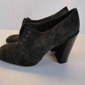 Tory Burch Suede Heel Ankle Booties Size 8